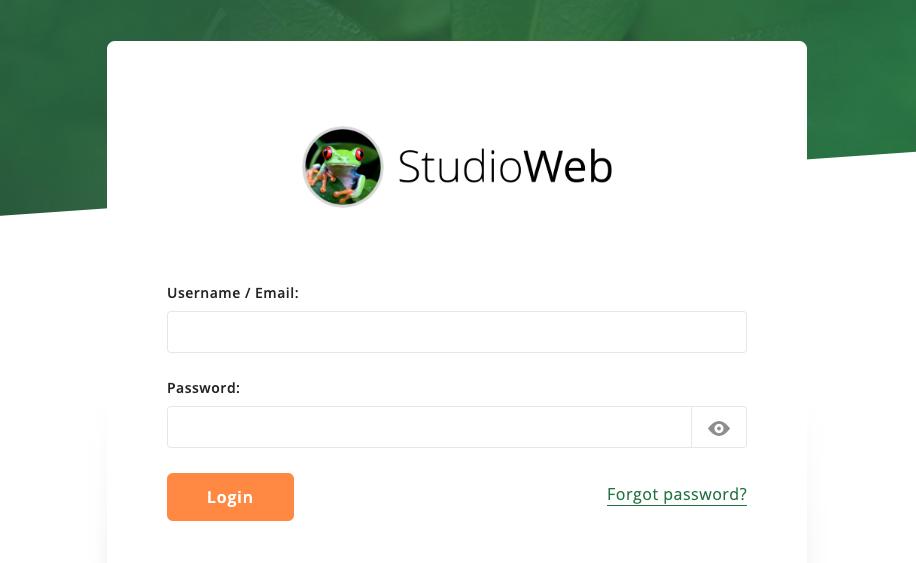 StudioWeb Screenshot